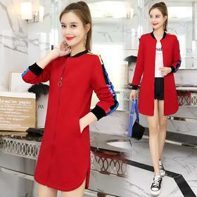 卫衣外套女新款韩版宽松中长款长袖时尚上衣 CQ-655