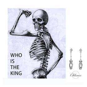 OLIISSUES Skull Lover系列 Im The King骷髅耳钉