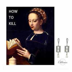 OLIISSUES How To Kill系列 Be Careful刀片珍珠耳钉