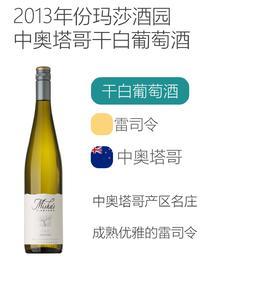 """2013年份玛莎酒园""""吟咏""""雷司令白葡萄酒 Misha's Vineyard Lyric Riesling 2013"""