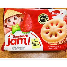 马来西亚Simanke果酱型夹心饼干190g