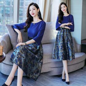 时尚潮流休闲连衣裙优雅韩版中长款百搭甜美 CS-XCMZ6967