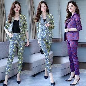 潮流简约个性时尚优雅休闲优雅显瘦修身套装 CS-SUN1901