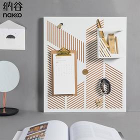 纳谷 | Sunshine 光影铁艺建筑抽象软木板
