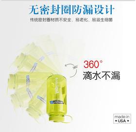 乐基因(nalgene)美国原装进口户外运动水壶 大容量防漏水杯 塑料耐摔杯子1L 2178-2024透明蓝色