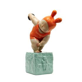 稀奇艺术 《掷铁饼baby》雕塑