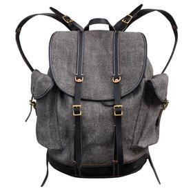 H&K G70 胡椒盐双肩背包 复古户外双肩背包 真正的棉麻混纺面料