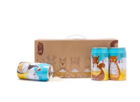 新米丨有机丨龙米·彩色生活⑦小动物款丨纯正五常稻花香2号丨300g×8罐装丨包邮哟