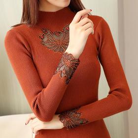 韩版时尚弹性超好贴身打底长袖毛衣毛线打底衫 CQ-HYF153