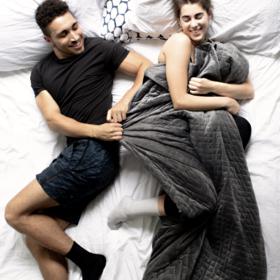 【美国Kickstarter大众创筹爆品 出新色】Gravity-weight blanket重力毯 减压毯 易入眠毯 睡眠黑科技