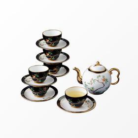 国瓷永丰源丨石榴家园14头咖啡具