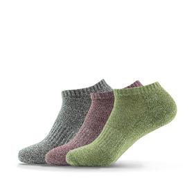 多彩半毛圈船袜 低帮短筒减震跑步袜 防臭吸汗(3双混装)