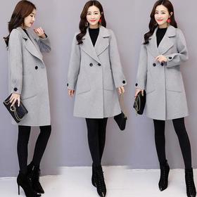 AN8868HSYL时尚西装领显瘦呢子大衣