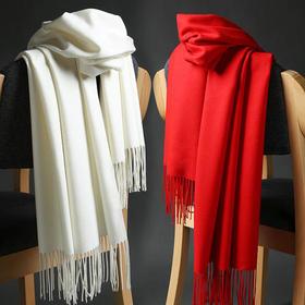 DX-S47秋冬纯色披肩加厚保暖流苏欧美羊绒围巾