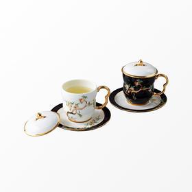 国瓷永丰源丨石榴家园黑白对杯