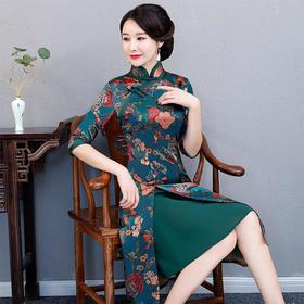 TX579397087395魅力优雅香云纱连衣裙
