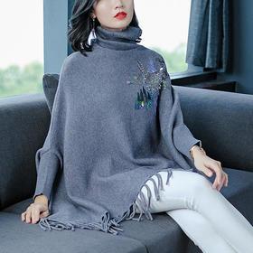 AHM63522tywf慵懒风宽松百搭针织毛衣
