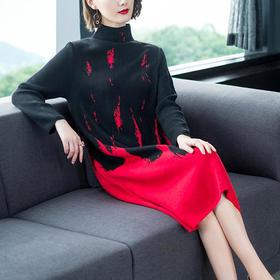 AHM62682tywf时尚气质过膝连衣裙