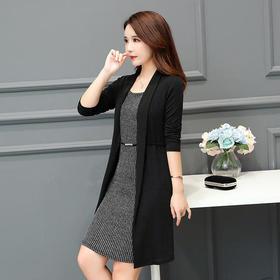 AHM55262hdmg气质优雅时尚假两件套裙子