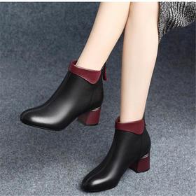 LN688-67欧美百搭粗跟马丁靴