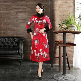 WXG579184091973魅力优雅大红旗袍