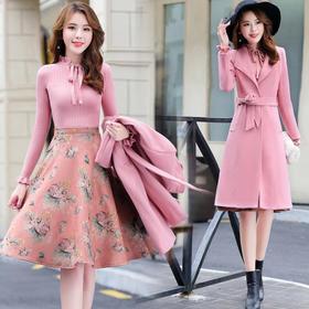 七分袖潮流休闲纯色时尚气质清纯甜美优雅长袖 CQ-XBLA05