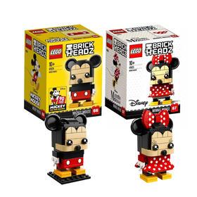 LEGO乐高 迪士尼经典方头仔系列米妮和米奇套装41624/41625