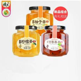 蜂蜜柚子柠檬百香果蜜茶238g*3瓶水果茶夏天泡水喝的饮品冲泡茶饮