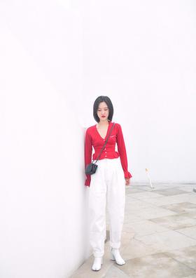 白色牛仔裤  设计师款