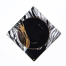 搪瓷流金树影餐盘系列 一套两只 | 玖申