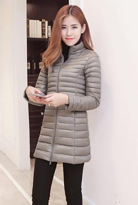 时尚纯色百搭直筒羽绒服CQ-ZYG1665