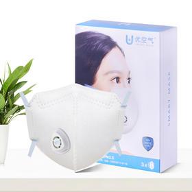 优空气智能防雾霾口罩 头戴式 两套组合【3个口罩*2共6个】