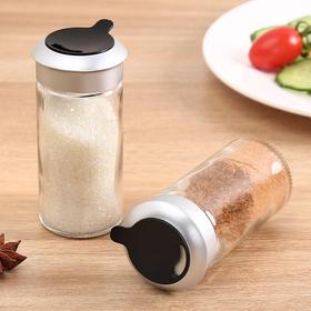 单个厨房调味罐玻璃带孔家用胡椒粉瓶撒粉罐撒料瓶烧烤调料罐盐罐-863465