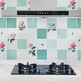 大号厨房防油贴纸耐高温家用防水油烟机自粘灶台帖卡通墙贴瓷砖贴-863496