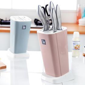 厨房多功能刀架置物架通风防霉塑料菜刀架家用刀具架子收纳架刀座-863526