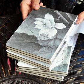 如荷古风本子B6裸装本笔记本文具 日记事本手帐本 复古小清新学生