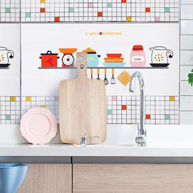 铝箔加厚防油贴家用自粘防水耐高温灶台瓷砖墙贴橱柜贴厨房油烟贴-863577