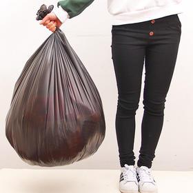 大号10只装加厚一次性垃圾袋80*100黑色清洁袋卷装塑料环保袋-863507