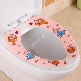 粘贴式马桶垫坐便垫卡通坐便套通用防水厕所坐便贴可爱马桶贴-863958