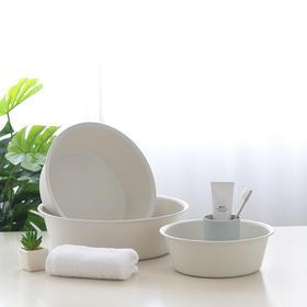 塑料洗脸盆婴儿洗衣盆家用大号简约素雅加厚塑料盆脚盆圆形洗菜盆-863908