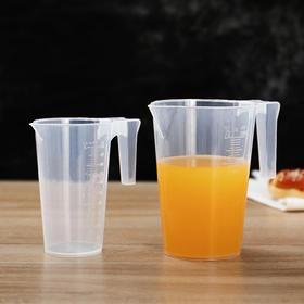 带刻度量杯塑料量筒家用厨房烘焙工具大容量透明量桶容量杯计量杯-863556