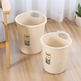 垃圾桶家用客厅卧室大号卡通小熊无盖欧式纸篓厕所厨房塑料垃圾筒-863670