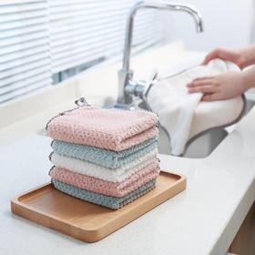 厨房擦手巾挂式擦手帕家用吸水不易掉毛加厚抹布洗手小毛巾搽手巾-863645