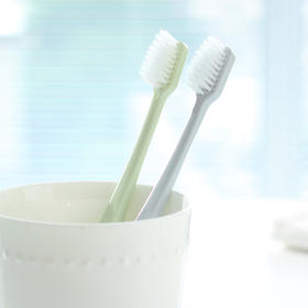 护龈洁齿细软毛素色牙刷 防出血护齿成人牙刷细毛牙刷 单支-863934