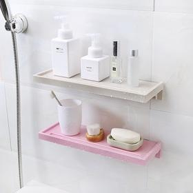 洗手间置物架 免打孔卫生间塑料架厕所架墙壁壁挂浴室储物架