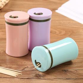 家用欧式牙签盒牙签筒塑料简约牙签收纳客厅居家便携牙签桶牙签罐-863585
