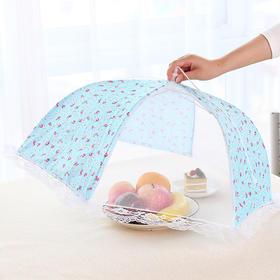 蕾丝网纱折叠菜罩 圆形防苍蝇饭菜罩16寸厨房食物防尘罩-863571