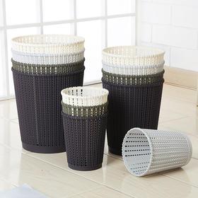 客厅卧室垃圾桶家用厨房创意大号无盖塑料垃圾纸篓迷你垃圾桶桌面-863671