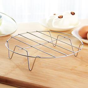 厨房不锈钢蒸架 四角高脚蒸盘器蒸蛋蒸菜防烫隔热架子-863596