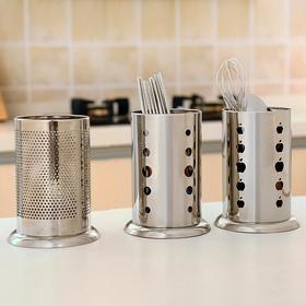 多功能创意厨房筷子筒不锈钢苹果孔筷子笼餐具厨具沥水置物架-863559